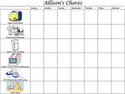 Free Printable Chore Chart For 4 Year Old 10 Paradigmatic 5 Year Old Chore Chart With Pictures