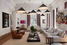 Living Room Pendant Lighting A Minimalist Living Room Hanging Lighting Radiating Beauty And