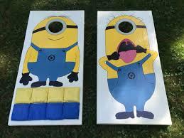 Cornhole Board Design Ideas Minion Cornhole Boards Cornhole Board Plans Cornhole