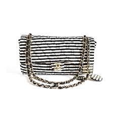 chanel vintage bag. chanel stripe flap bag vintage