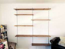 33 sweet looking wall mounted shelving ideas the best of track shelves ataa dammam elegant 25