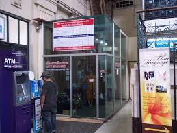 left luggage office at hua lamphong train station