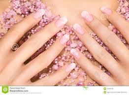 Elegant French Manicure Designs Elegant Nail Design Stock Photo Image Of French Female