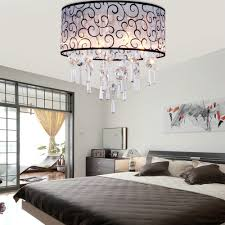 flush mount crystal chandelier. MAMEI Free Shipping 110 240V Modern Ceiling Flush Mount Crystal Bedroom Light With D40 Drum Lamp Shade-in Lights From \u0026 Lighting On Chandelier