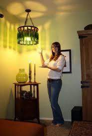 diy wine bottle chandelier for around 50