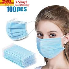 <b>DHL TNT 100pcs Face</b> Disposable mouth mask Disposable 3 Layer ...