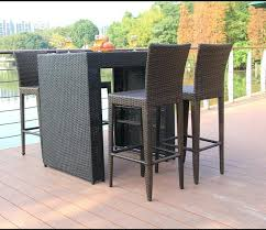 bar table chairs outdoor and bunnings rattan furniture garden chair beach set outd