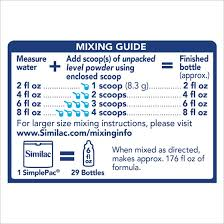 Similac Feeding Chart Similac For Supplementation Powder Non Gmo 1 45 Lb Pack Of 4