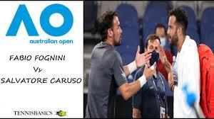 Fabio Fognini vs Salvatore Caruso - Dramatic end - Australian Open 2021  (2R) - YouTube