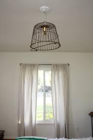 Diy Light Fixtures Vintage Basket Light Fixture Hello Lidy
