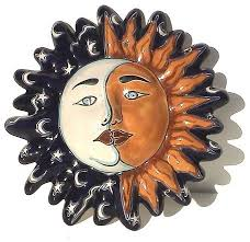 moon small talavera ceramic sun face on talavera ceramic wall art with moon small talavera ceramic sun face southwestern outdoor wall