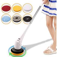 coocheer spin scrubber cordless telescopic power tub and tile scrubber cleaner for for bath toilet floor wall window car surface cleaning no bending with 5