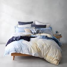 oki navy quilt cover set by logan and mason