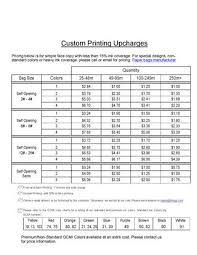 Gcmi Color Chart Printing Upcharges With Gcmi Info Revised 1 31 2014 By