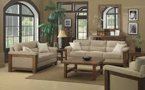 the country style beige and brown colors living room