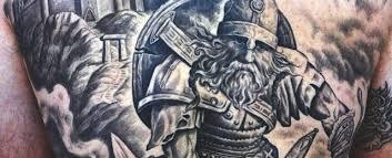 70 Viking Tattoos For Men Germanic Norse Seafarer Designs