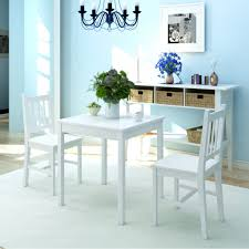 White Kitchen Table Set 2 Chairs Wooden Dining Room Wood