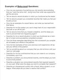 Examples Of Behavioral Interview Questions Preparing For An Interview Shawnee State University