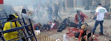 essay bombs and terror can t destroy our way of life online injured people lie on the sidewalk near the boston marathon finish line following last week s attack