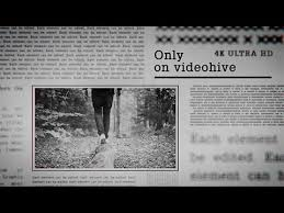 Newspaper Template After Effects Free Newspaper Slideshow 4k After Effects Template Youtube