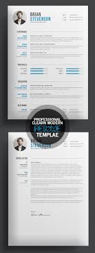 Creative Clearn Professional Resume Template Pinteres