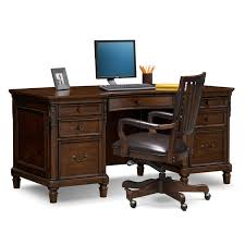 Computer Desk And Chair Ashland Executive Desk And Chair Set Cherry Value City Furniture