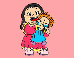 Resultado de imagen de niña jugando con muñecas
