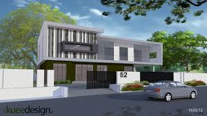 modern office building design home. front view to extension and conversion an existing single storey bulding modern office with building design home
