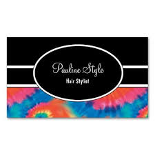 Retro Tie Dye Business Cards Business Cards And Business
