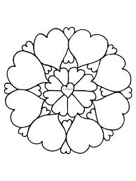 Kleurplaat Mandala Hartjes Liefde Kleurplatennl