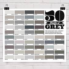 50 Shades Of Gray Color Chart Fifty Shades Of Grey Pantone Chart Shades Of Grey Shades