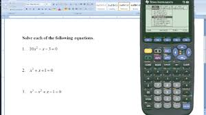 college algebra solve any equation with the ti 89 graphing calculator