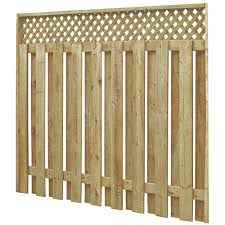 fence. Pre-Assembled Fence With Lattice