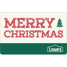 Gift Cards For Christmas Merry Christmas Gift Card At Lowes Com