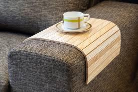 flexible wooden sofa armrest tray table