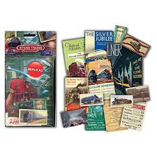 steam trains memorabilia gift pack with over 20 pieces of replica artwork
