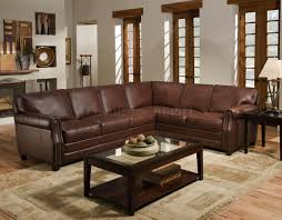 full size of brown leather sectional sofa plus area rug and table for living room decoration