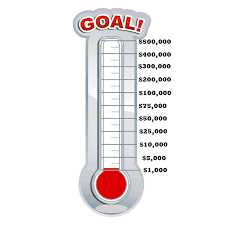 fundraising tracker template fundraising thermometer template fitted although fundraiser chart