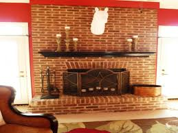 red brick fireplace decorating ideas