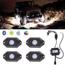 Us 66 02 5 Off 4pcs X Pod Mini Bluetooth Rgb Led Rock Lights Multi Function For 4x4 Offroad Vehicle For Jeep Wrangler In Car Light Assembly From