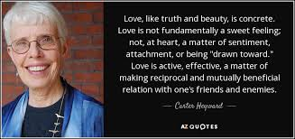 Truth Is Beauty Quote Best of Carter Heyward Quote Love Like Truth And Beauty Is Concrete Love