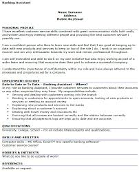 Example Of Best Customer Service Banking Assistant Cv Example Icover Org Uk