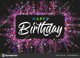 Typography Design Template Happy Birthday Typography Design For Greeting Cards And
