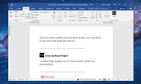 Ms Word Powerpoint Get The Noun Project Add In For Ms Word And Powerpoint