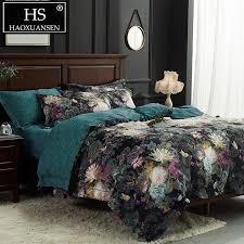 hs black 3d fl print bedding sets duvet cover bed linen and duvets king size bedding set queen size comforter sets teal bedding king size