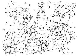 Kleurplaat Kerst Voor Dieren Afb 23373 Kleurplaat Kerst Dieren
