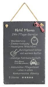 Schild Mit Spruch Witzig Hotel Mama Schiefertafel Geburtstag