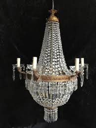 large french empire antique basket chandelier c 1880 1 of 11