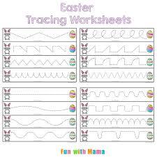 Easter Worksheet Happy Worksheet For Kids Preschool And Kindergarten ...