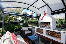 features of an outdoor fresco canopy room